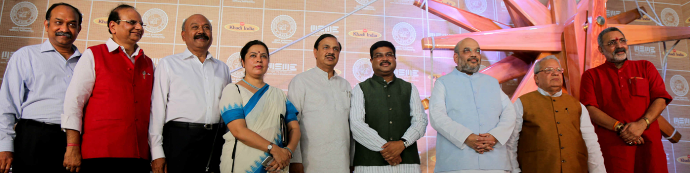 World's largest charkha unveiling at Delhi airport, July 2016