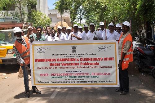 Swatch Bharat Pakhwara of MSME-DI, Hyderabad, June 2018
