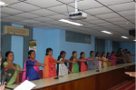 Taking Swachhta Pledge in CCRI, Kalavoor, Day 1
