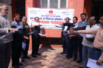 Deputy Director, I/C along with officers & staff taking Swachhta Pledge at Nunhai Campus