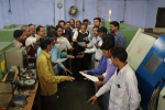 Officers of DI, Agra – taking Swachhta Pledge at M/s. Meghdoot Pistons, Nunhai, Agra with their workers.