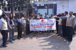 Officers of DI, Agra – taking Swachhta Pledge at M/s. Mehtafab Engineering Associate, Nunhai, Agra with their workers.