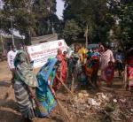 (Cleanliness Drive at Harijan Basti Slum Area near Deer Park, Cuttack held on 06.12.2017)
