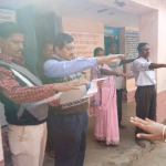 (Taking Swachhta Pledge at Barabodia Nodal Upper Primary School, Barabodia,Dist- Cuttack)