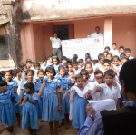 (Taking Swachhta Pledge at Barabodia Nodal Upper Primary School, Barabodia, Dist- Cuttack)